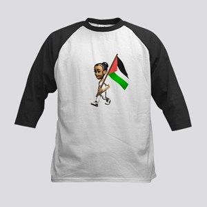 Palestine Girl Kids Baseball Jersey