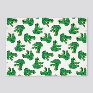 FROGS, FROGS... EVERYWHERE! 5'x7'Area Rug
