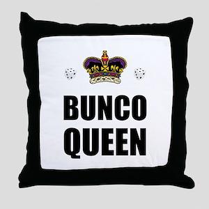 Bunco Queen Dice Throw Pillow