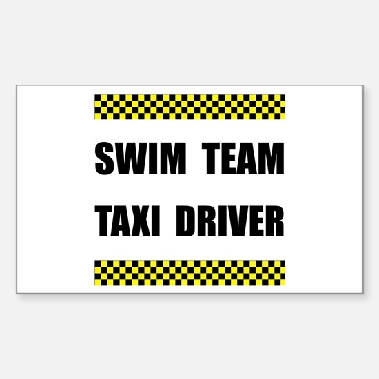 Swim Team Taxi Driver Decal
