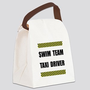 Swim Team Taxi Driver Canvas Lunch Bag