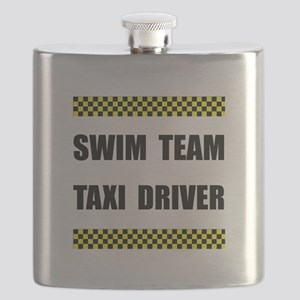 Swim Team Taxi Driver Flask