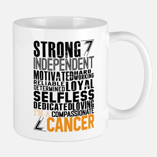 Strong Independent Motivated Cancer Mugs