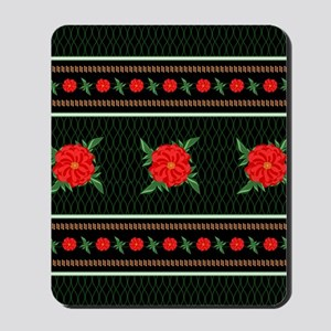 Red Flower Chinoiserie Mousepad