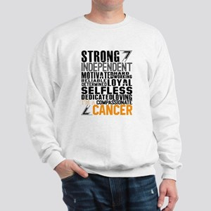 Strong Independent Motivated Cancer Sweatshirt