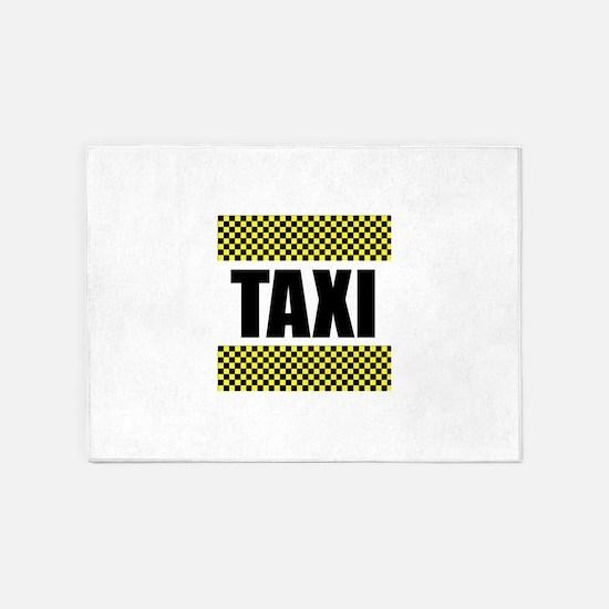 Taxi Cab 5'x7'Area Rug