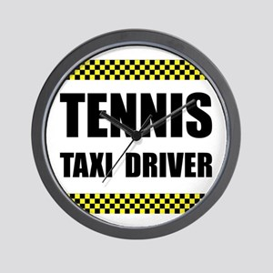 Tennis Taxi Driver Wall Clock