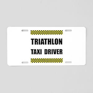 Triathlon Taxi Driver Aluminum License Plate