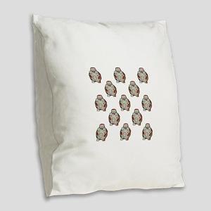 Adorable Lipstick Pig Pattern Burlap Throw Pillow