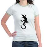 Lizard Gifts Jr. Ringer T-Shirt Womens & Girls Tee