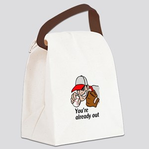 YOURE ALREADY OUT Canvas Lunch Bag