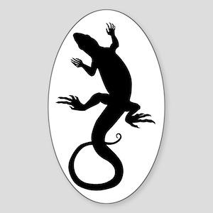 Lizard Gifts Oval Sticker