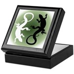 Lizard Art Keepsake Box Cool Reptile Box