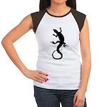 Women's Lizard T-Shirt Cap Sleeve Ladies Shirt