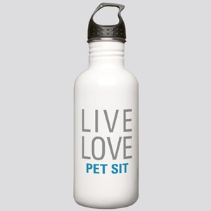 Live Love Pet Sit Stainless Water Bottle 1.0L