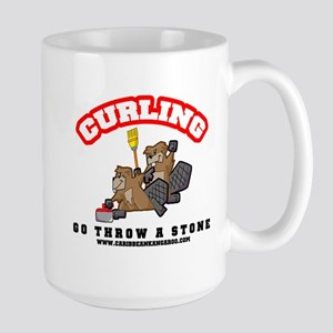 Curling Beavers Super Mug