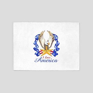 I LOVE AMERICA EAGLE 5'x7'Area Rug