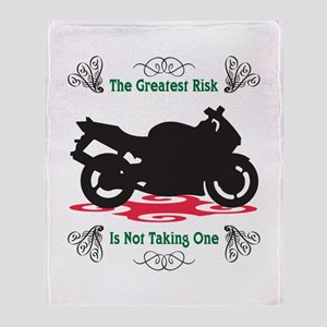 Taking A Risk Throw Blanket