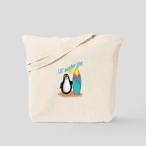 Lil' Surfer Girl Tote Bag