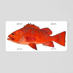 Vermilion Rockfish v2 Aluminum License Plate