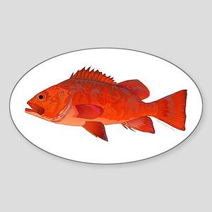 Vermilion Rockfish v2 Sticker