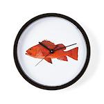 Vermilion Rockfish v2 Wall Clock