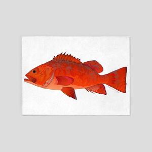 Vermilion Rockfish v2 5'x7'Area Rug