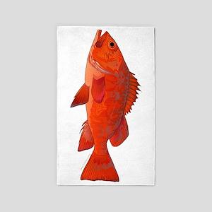 Vermilion Rockfish v2 Area Rug