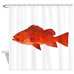 Vermilion Rockfish v2 Shower Curtain