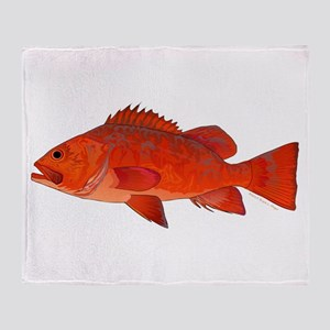 Vermilion Rockfish v2 Throw Blanket