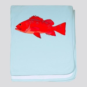 Vermilion Rockfish v2 baby blanket