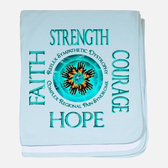 CRPS RSD Faith Courage Strength Hope baby blanket