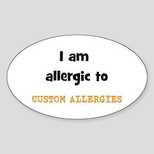 CUSTOM ALLERGY Sticker