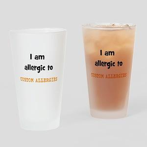 CUSTOM ALLERGY Drinking Glass