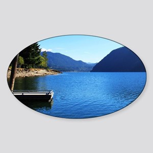 Olympic National Park. Landscape ph Sticker (Oval)