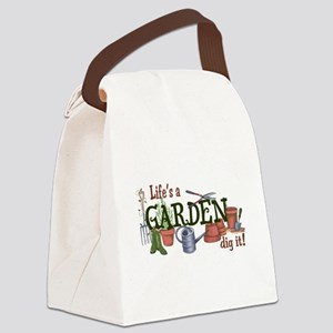 Life's A Garden Dig It! Canvas Lunch Bag
