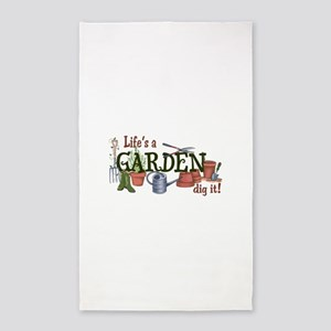 Life's A Garden Dig It! Area Rug