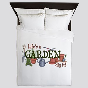 Life's A Garden Dig It! Queen Duvet