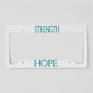 CRPS RSD Faith Courage Streng License Plate Holder
