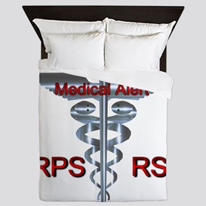 CRPS / RSD Medical Alert Asclepius Cad Queen Duvet