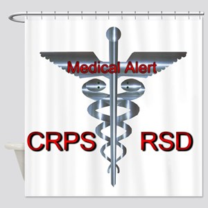 CRPS / RSD Medical Alert Asclepius Shower Curtain