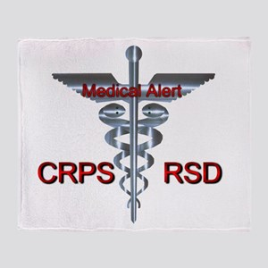 CRPS / RSD Medical Alert Asclepius C Throw Blanket