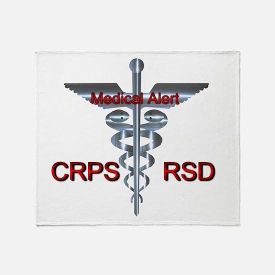 CRPS / RSD Medical Alert Asclepius C Throw Blanket