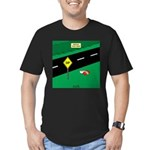 dip warning Men's Fitted T-Shirt (dark)