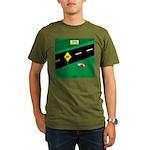dip warning Organic Men's T-Shirt (dark)