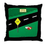 dip warning Throw Pillow