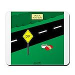 dip warning Mousepad