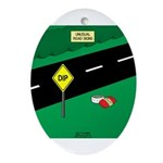 dip warning Ornament (Oval)