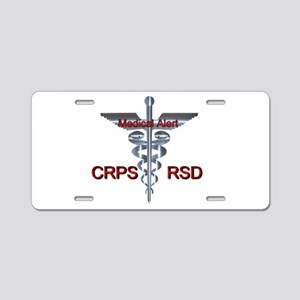 CRPS / RSD Medical Alert As Aluminum License Plate