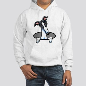 White Black Greyhound Sweatshirt
